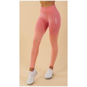 Gymshark Ombré Seamless Leggings Peach Coral